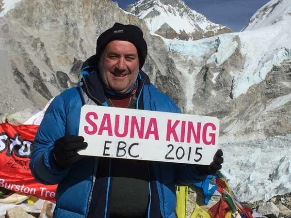 Ian Groom on Mount Everest