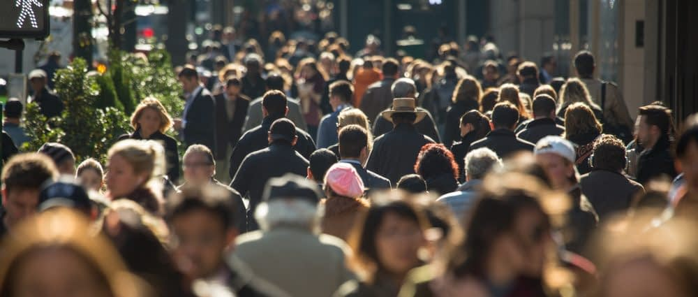 A busy street represents the business environment, and reinforces why you need to do competitor analysis