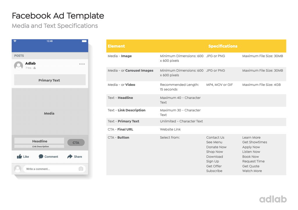 Free Facebook Ad Template for download